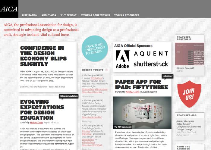 AIGA Website 1