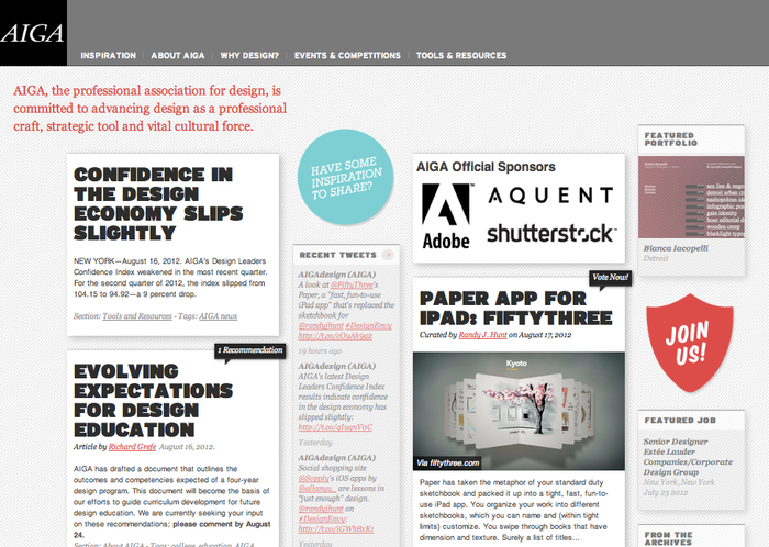 AIGA Website 1