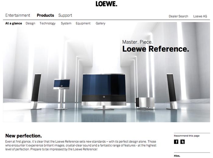 Loewe.tv Website 2