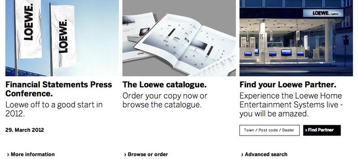 Loewe.tv Website 5