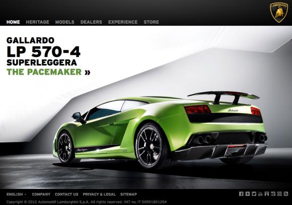 Lamborghini com Website - Fonts In Use