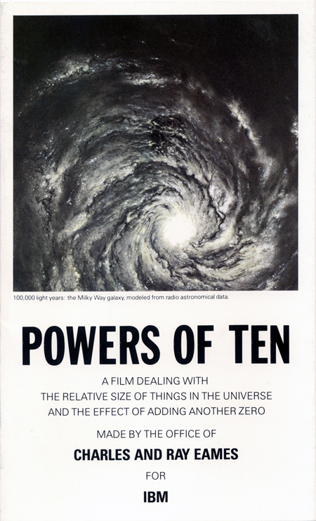 Powers of Ten brochure 1