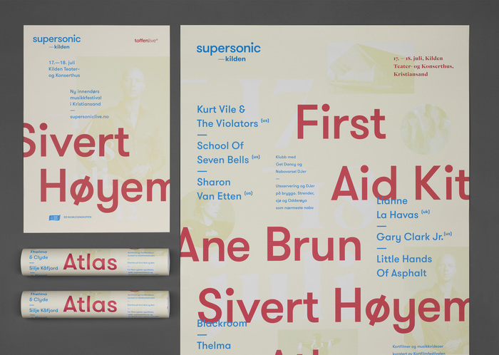 Posters for supersonic—kilden festival.