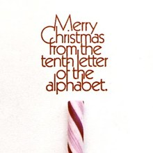 Alex Jay Christmas Card, 1977
