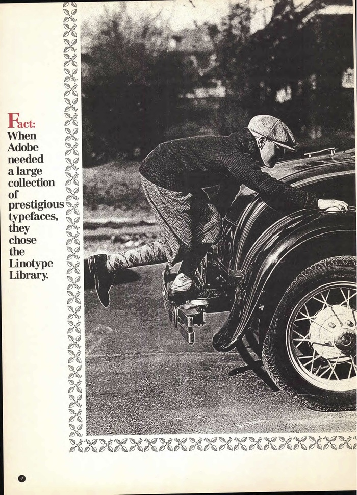 Linotype Library ad in U&lc, 1992 2