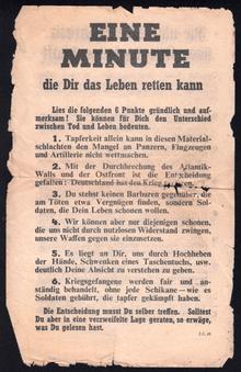 D-Day leaflets