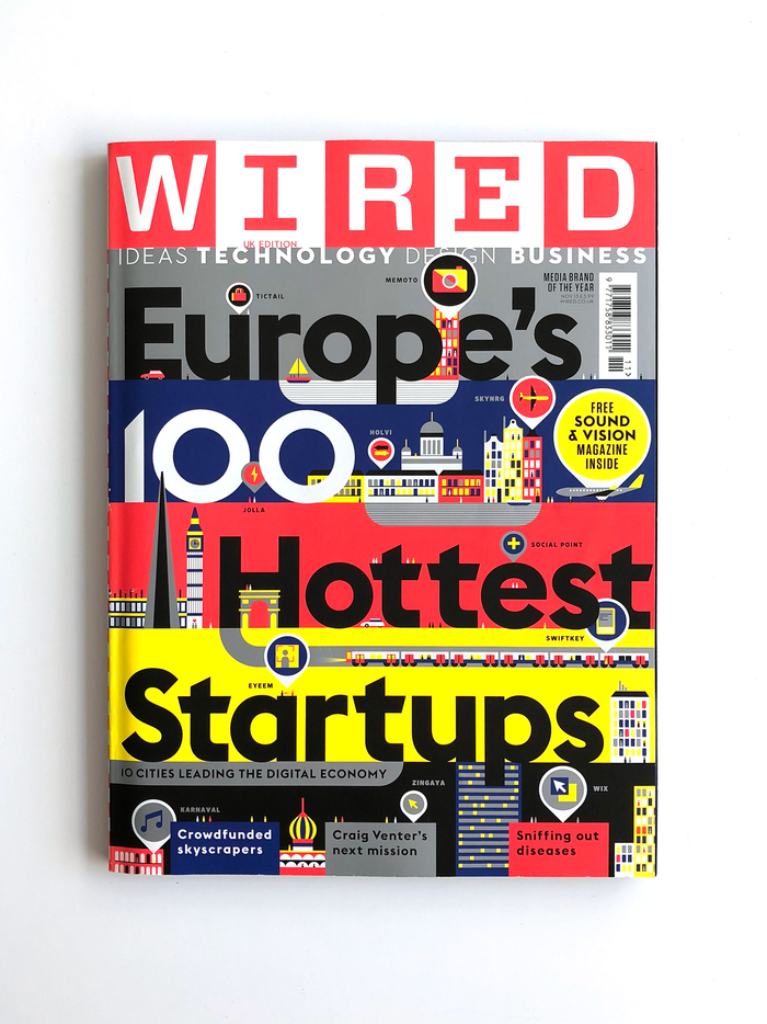 "Wired (UK) magazine, ""Europe's 100 Hottest Startups"", Nov 2013"