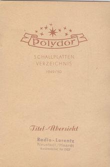 Polydor Schallplatten-Verzeichnis 1949/50