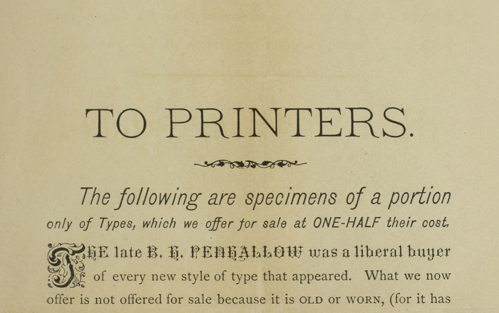 Specimens of Book and Job Types for Sale by the Penhallow Printing Company 2