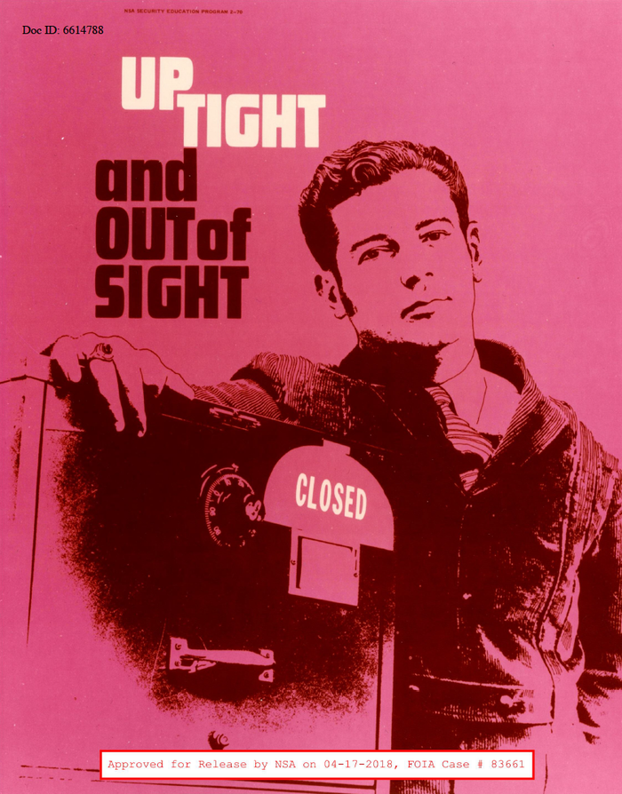 A sing-along poster with Futura Display set (up)tight. Named after Stevie Wonder's Uptight (1965), James Brown's Out Of Sight (1964) – or Out Of Sight, the 1966 movie?
