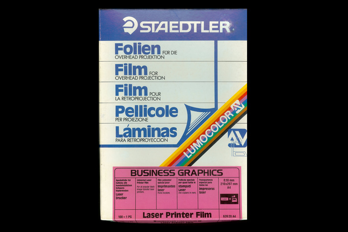 Staedtler Laser Printer Film packaging 1
