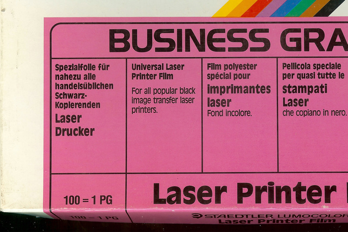 Staedtler Laser Printer Film packaging 4