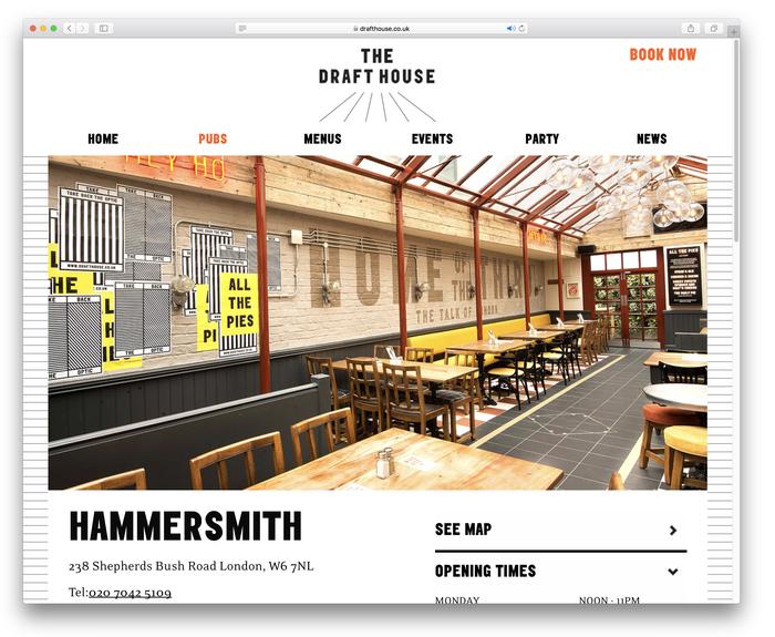 Draft House website (2018 redesign) 6