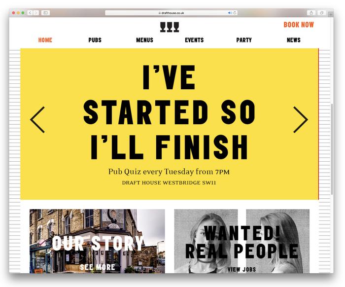 Draft House website (2018 redesign) 2