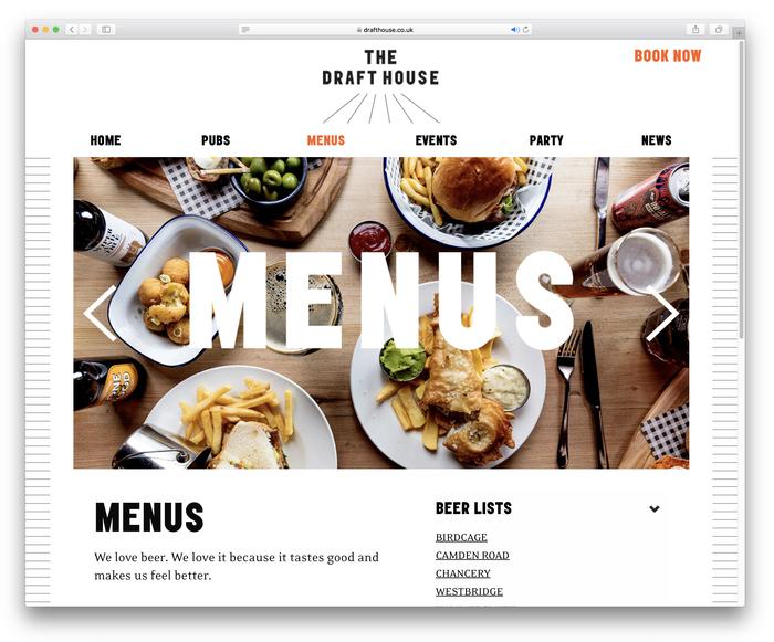 Draft House website (2018 redesign) 4