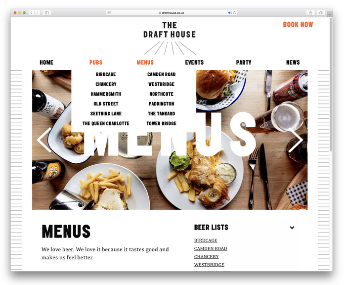 Draft House website (2018 redesign) 5