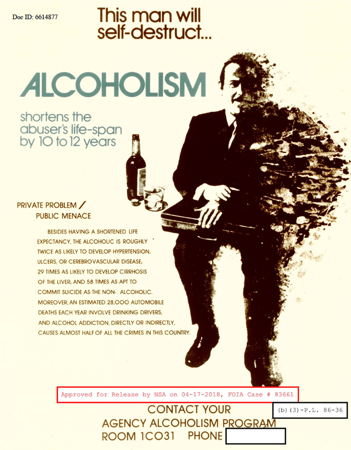 Avant Garde Gothic (1970) vs. alcoholism. Later (digital) releases of Avant Garde Gothic have a flat-sided zero, this poster shows the initial design with its circular 0, similar to the O.