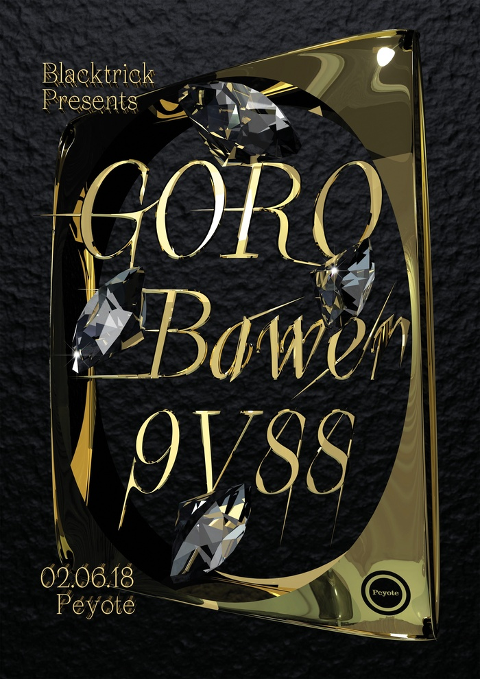 Blacktrick Presents: Goro / Bawer / 9VSS poster