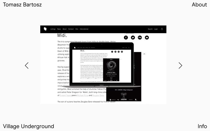 Tomasz Bartosz portfolio website 1