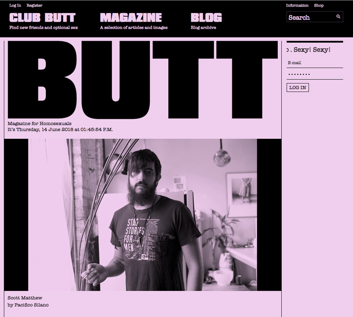 "Forever Butt (2014) is ""the ultimate compendium of the best and the baddest from BUTT magazine""."