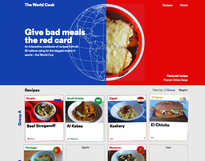 The World Cook website 1