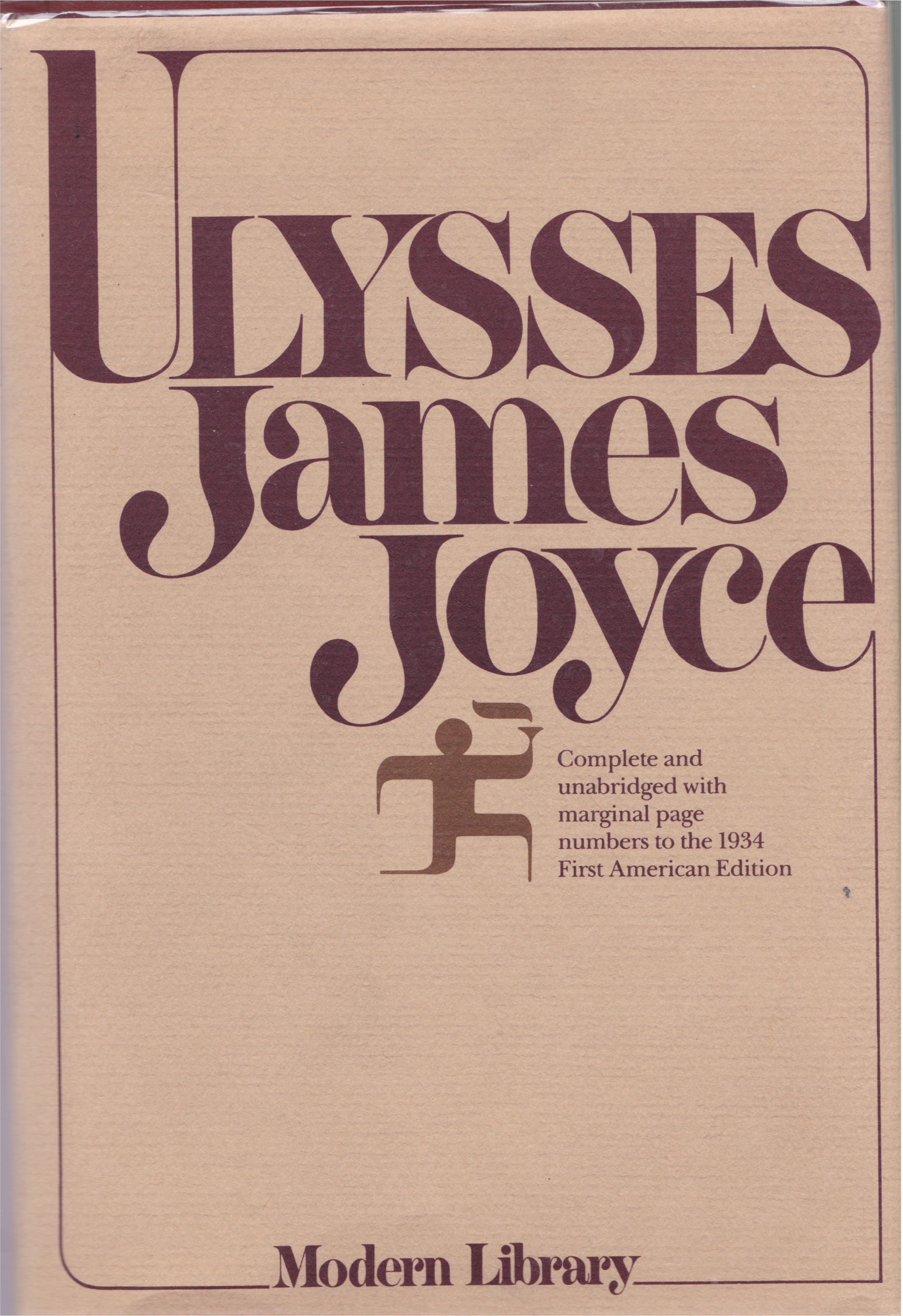 Ulysses By James Joyce Modern Library Fonts In Use