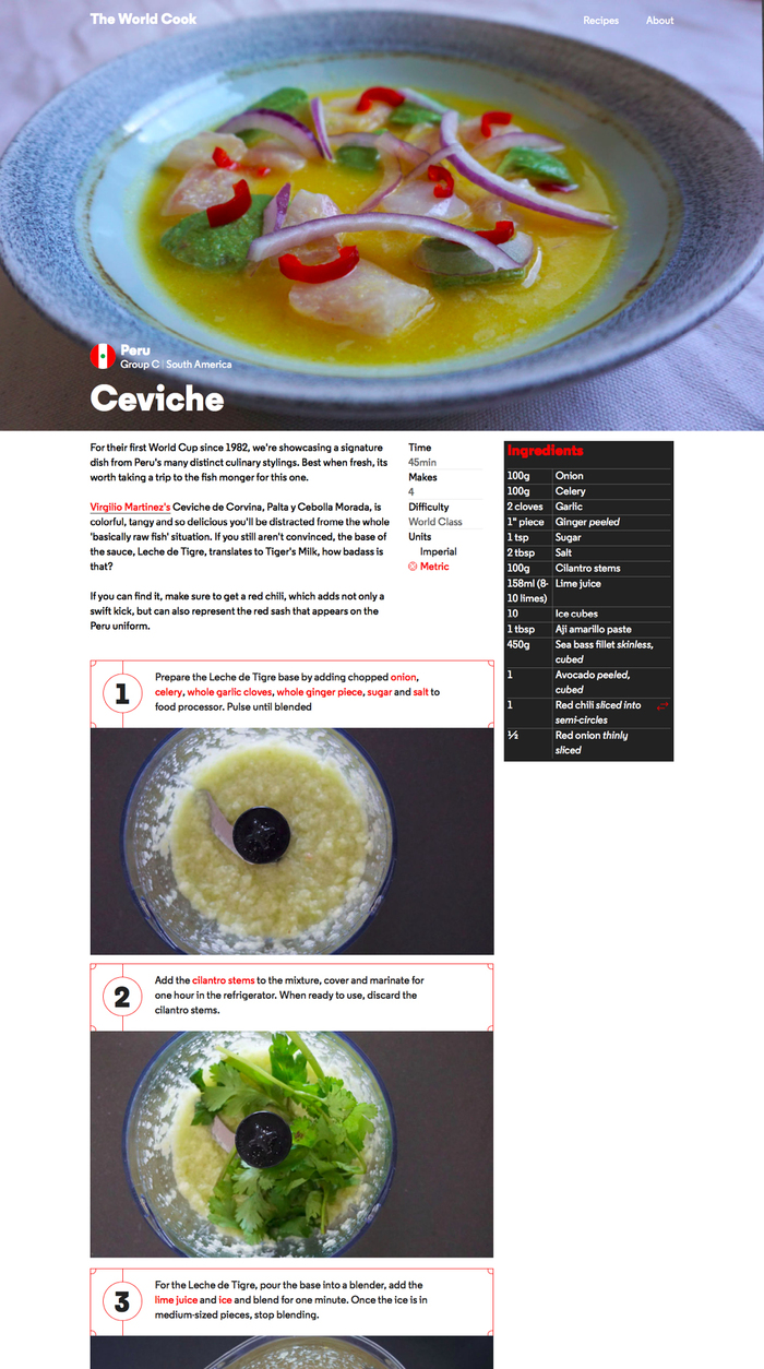 The World Cook website 4