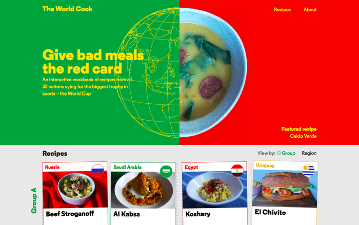 The World Cook website 2