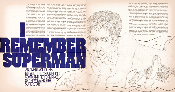 """I Remember Superman"", Avant Garde No.4 1"