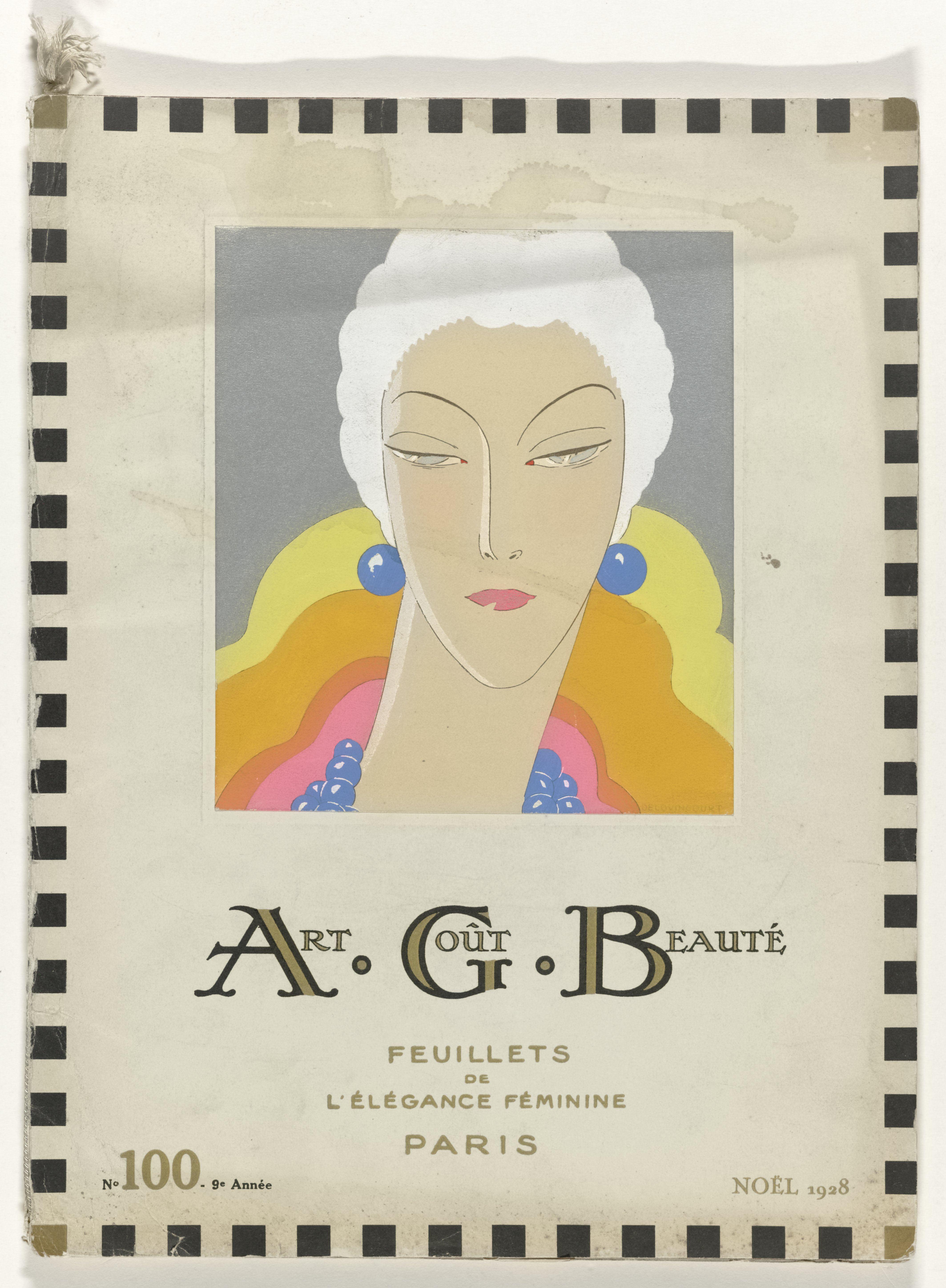 Art – Goût – Beauté magazine No. 100, Christmas 1928 - Fonts In Use