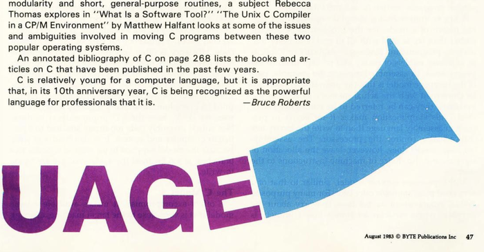 "Byte Magazine, Vol. 8 No. 8, Aug 1983,""The C Language"" 2"