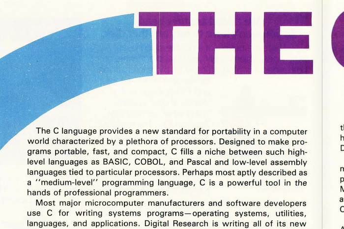 "Byte Magazine, Vol. 8 No. 8, Aug 1983,""The C Language"" 3"