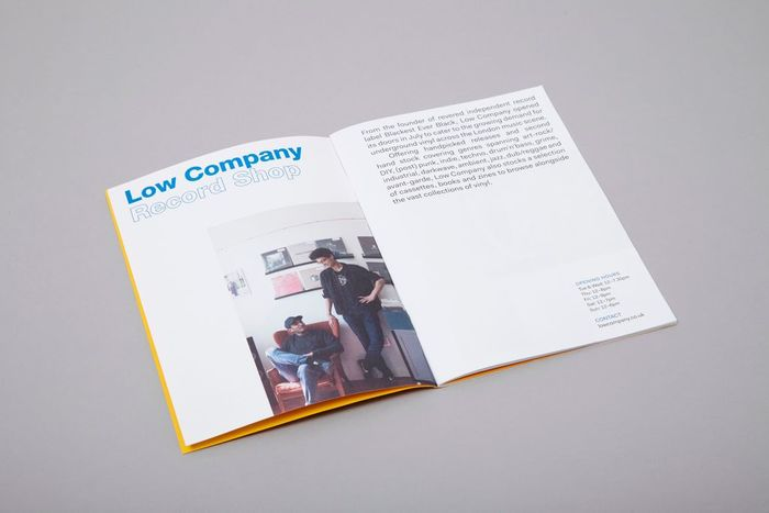 Booklet for Eat Work Art, set in Neue Helvetica, other text set in Fakt.