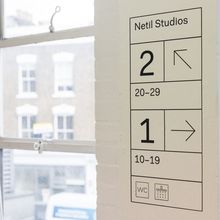Netil House signage