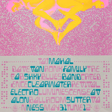 Taj Majal, Creedence Clearwater Revival, Electro Luminescense, etc. at the Avalon Ballroom, May 31, 1968