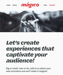 Mágico website