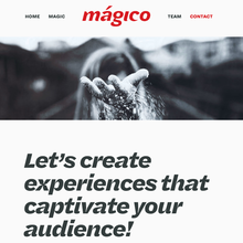 Mágico website