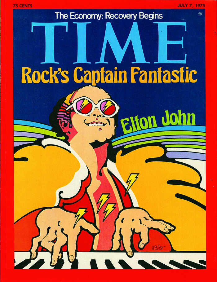 """TIME magazine, """"Rock's Captain Fantastic: Elton John"""", July 7, 1975 1"""