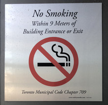 """No Smoking"" sign"