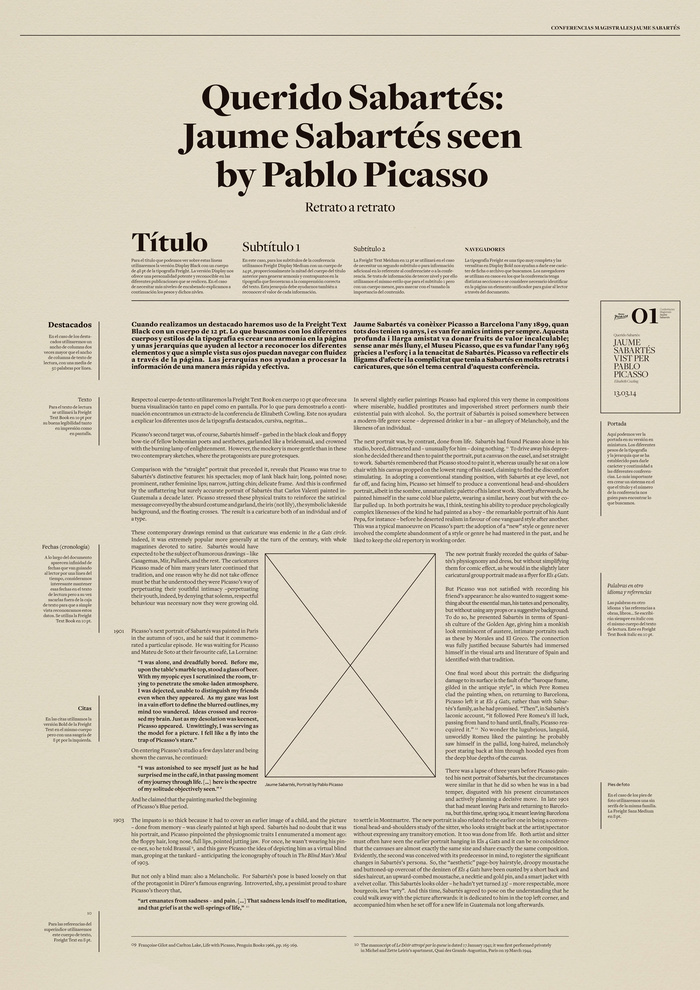 Master conferences Jaume Sabartés poster 1