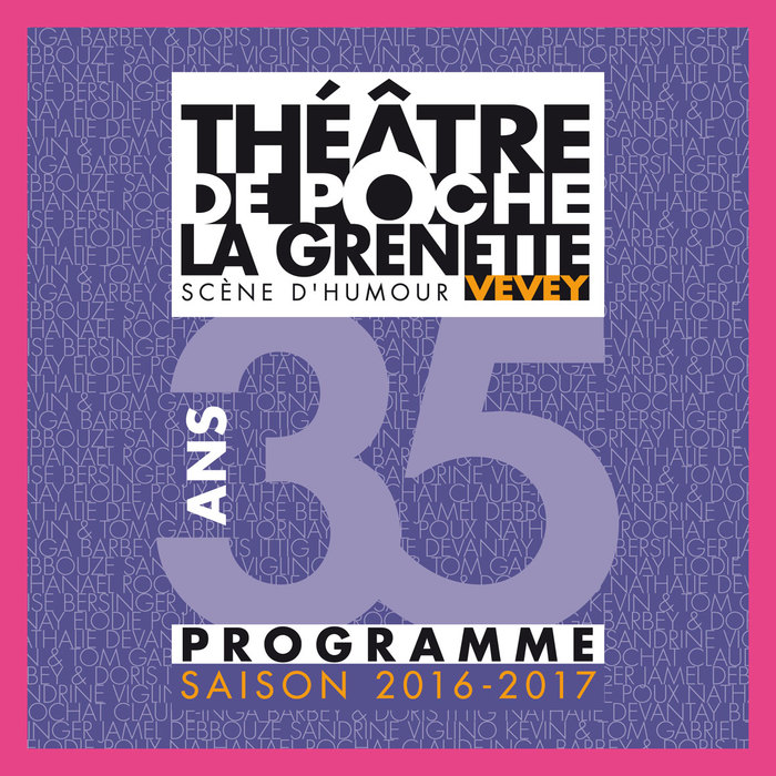 Season program for the 35th anniversary in 2016/2017