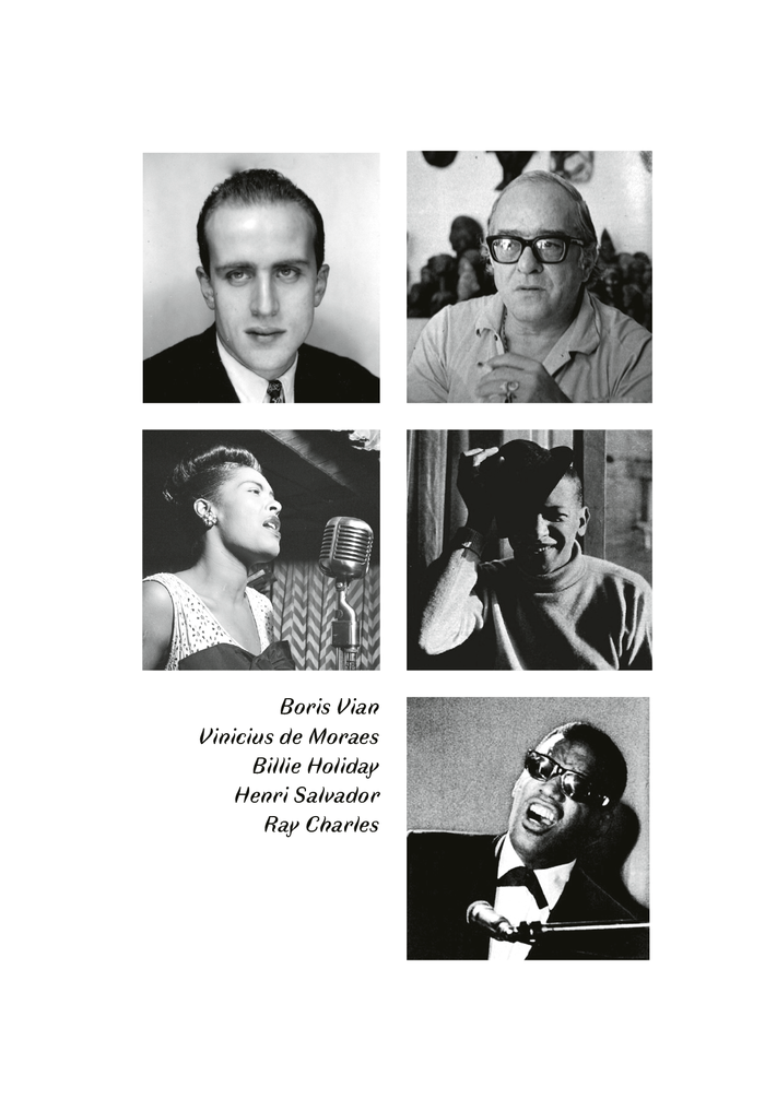 Page from the program leaflet, with the artist names rendered in Faune Text Italic.