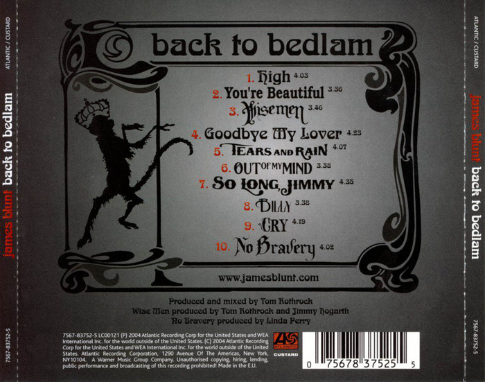 Back to Bedlam (2004), original cover