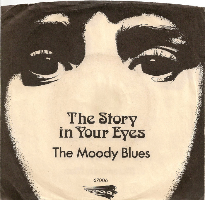 """""""The Story in Your Eyes"""", single release, July 1971. The title here uses off-the-shelf Arnold Böcklin."""