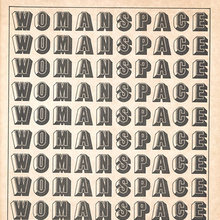 Cover of <cite>Womanspace</cite> journal, vol. 1, no. 1, 1973