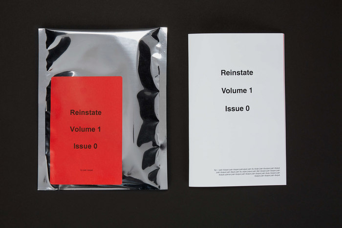 Reinstate magazine, Vol. 1, issue 0 1