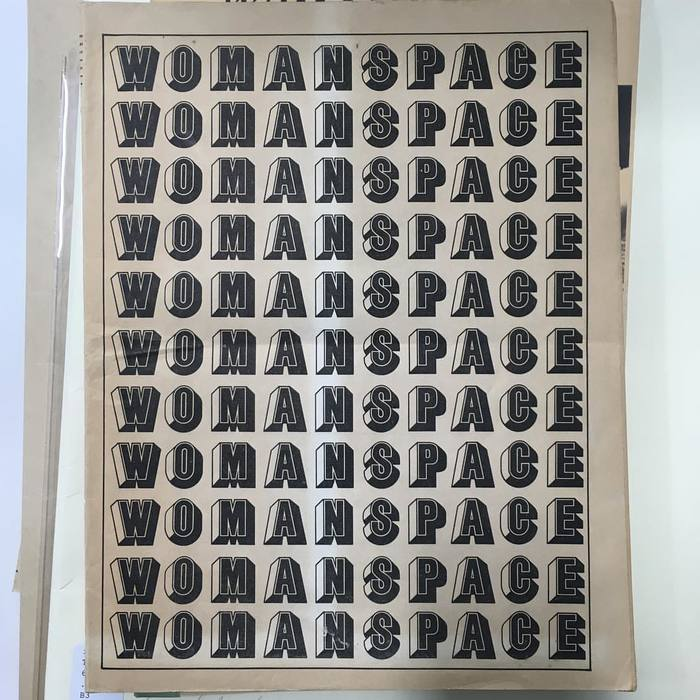 Cover of Womanspace journal, vol. 1, no. 1, 1973. The Getty Research Institute, Gift of Hal Glicksman, 2009.M.5.20. Courtesy of Judy Chicago.