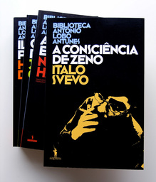 Biblioteca António Lobo Antunes logo and book covers