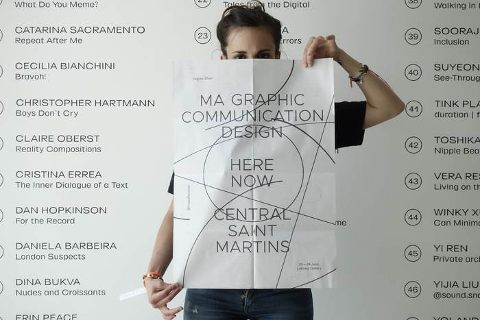 Central Saint Martins MA Graphic Communication Design degree show 2018 3