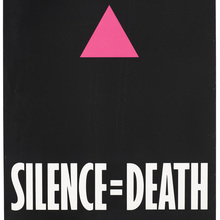 <cite>Silence=Death</cite> poster